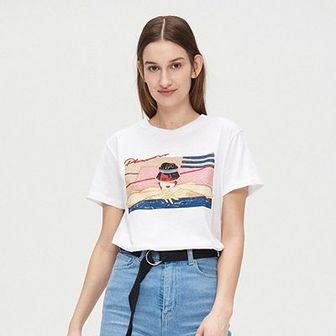 Koszulka oversize z grafiką