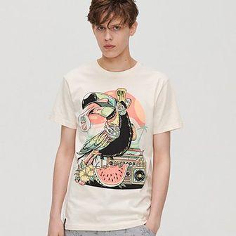 Koszulka z nadrukiem Cropp Artists