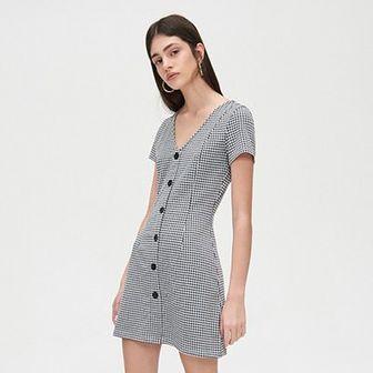 Sukienka mini w kratkę