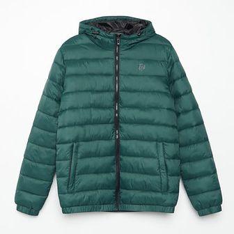Pikowana kurtka basic z kapturem
