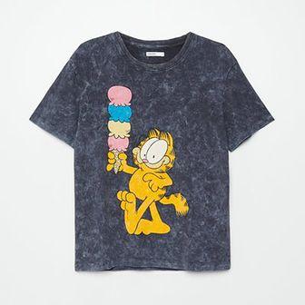Koszulka  z efektem sprania Garfield