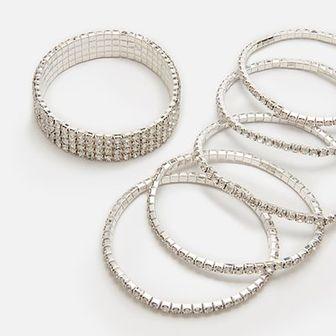 Zestaw srebrnych bransoletek
