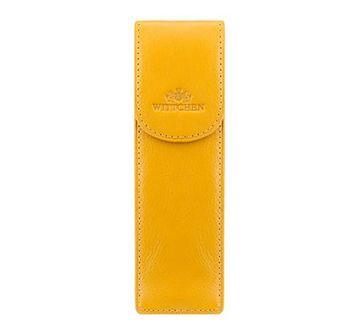 WITTCHEN Etui na długopisy żółty skóra licowa
