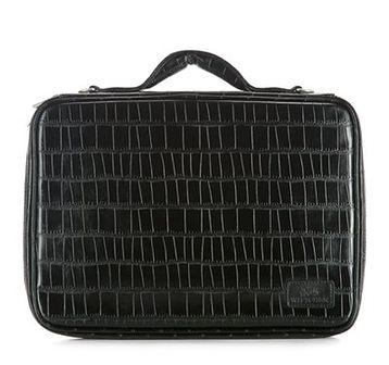 WITTCHEN Torba na laptopa czarny skóra ekologiczna