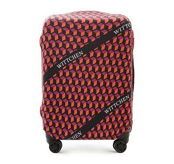 WITTCHEN Pokrowiec na walizkę średnią pomarańczowo - czarny poliester