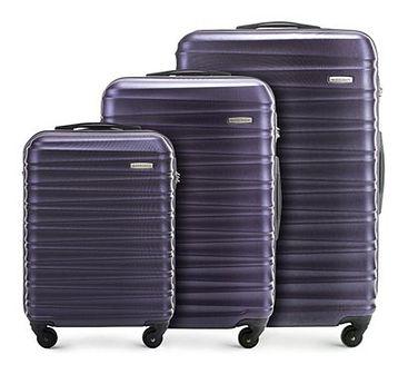 WITTCHEN Zestaw walizek fioletowy ABS
