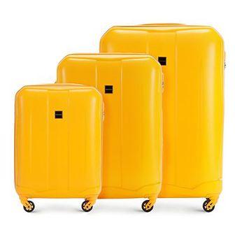 WITTCHEN Zestaw walizek żółty ABS