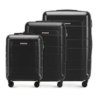WITTCHEN Zestaw walizek czarny polimer