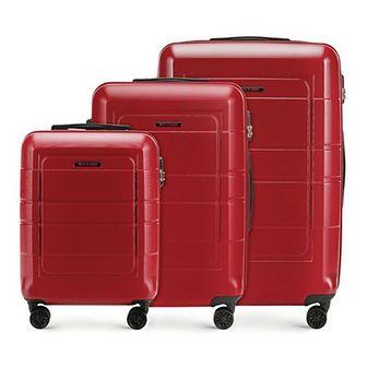 WITTCHEN Zestaw walizek czerwony polimer