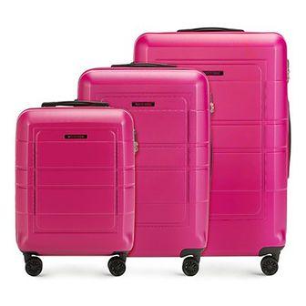 WITTCHEN Zestaw walizek różowy polimer