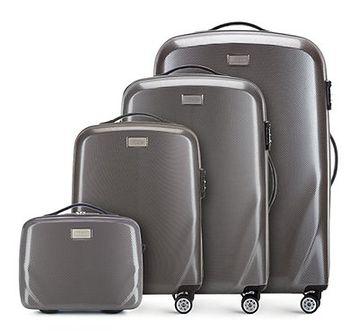 WITTCHEN Zestaw walizek szary policarbon