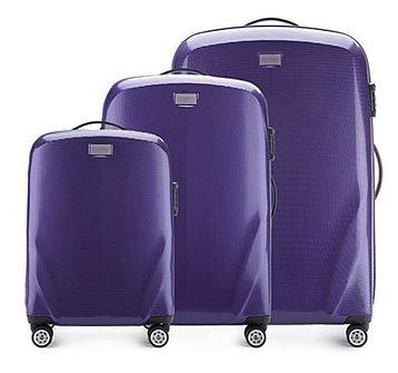 WITTCHEN Zestaw walizek fioletowy policarbon