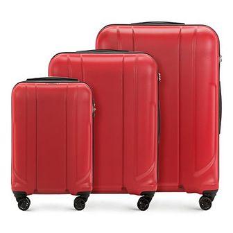 WITTCHEN Zestaw walizek czerwony policarbon