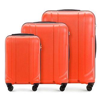 WITTCHEN Zestaw walizek pomarańczowy policarbon