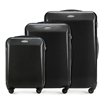 WITTCHEN Zestaw walizek czarny policarbon