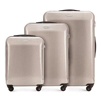 WITTCHEN Zestaw walizek beżowo - szary policarbon