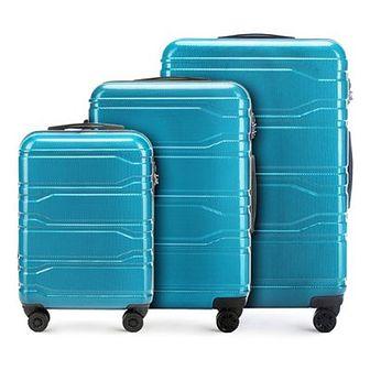 WITTCHEN Zestaw walizek niebieski policarbon