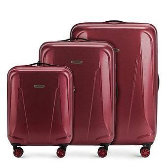 WITTCHEN Zestaw walizek bordowy policarbon