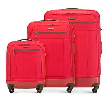 WITTCHEN Zestaw walizek czerwony poliester
