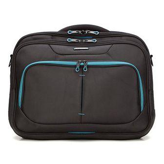 WITTCHEN Torba na laptopa czarno - niebieski poliester