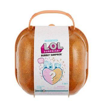 L.O.L. Surprise, Bubbly Surprise, laleczka i zwierzątko niespodzianka w walizce, pomarańczowa
