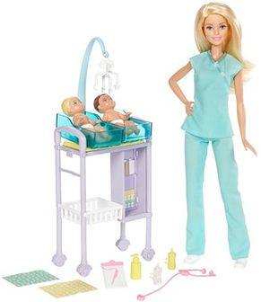 Barbie, Kariera, Pediatra, zestaw z lalką i akcesoriami