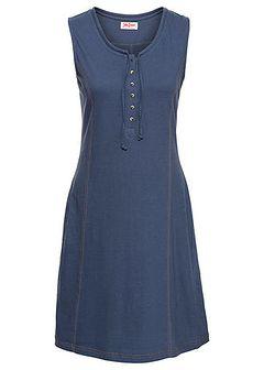 Sukienka bawełniana shirtowa z plisą guzikową