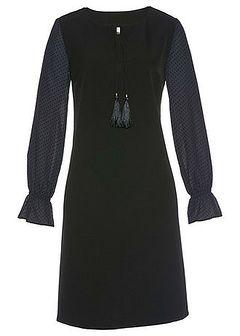 Sukienka z rękawami szyfonowymi