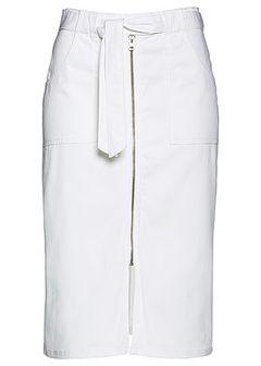 Spódniczka twillowa z wiązanym paskiem