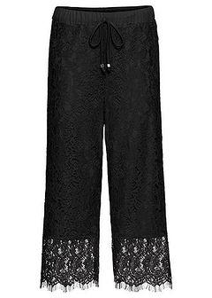 Spodnie culotte z koronką