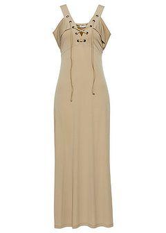 Sukienka cold-shoulder ze sznurowaniem