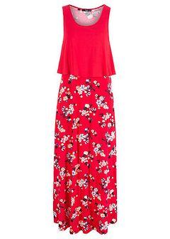 Długa sukienka shirtowa warstwowa