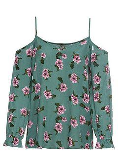 Bluzka kreszowana w kwiatowy deseń
