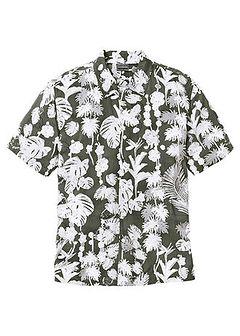 Koszula z krótkim rękawem w hawajski deseń, Regular Fit