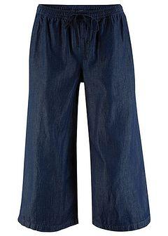 Szerokie dżinsy bez zamka w talii