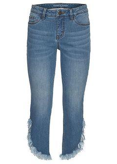 Dżinsy z frędzlami, krótsze nogawki