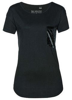 T-shirt z aksamitną kieszonką