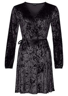 Sukienka aksamitna z efektem założenia kopertowego