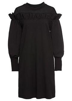 Sukienka dresowa z siatkową wstawką
