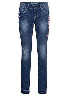 Dżinsy Skinny z haftem, w krótszej długości