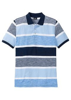 Shirt polo w paski ze specjalnym krojem na wys. brzucha