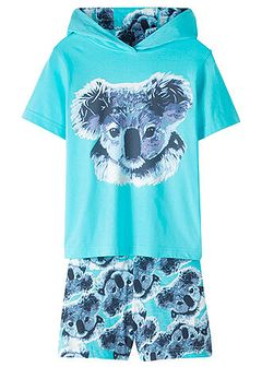 Shirt z kapturem + spódnico-spodnie (2 części)