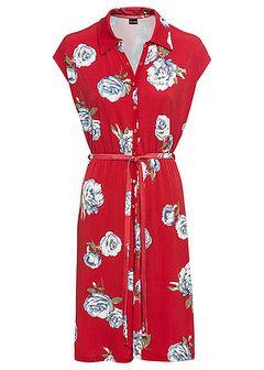 Sukienka z dżerseju z zapięciem na guziki
