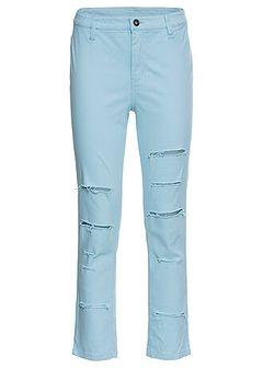 Spodnie 7/8 z wysoką talią i rozcięciami po bokach