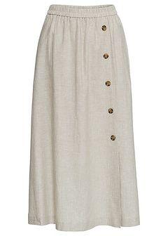 Spódnica z plisą guzikową