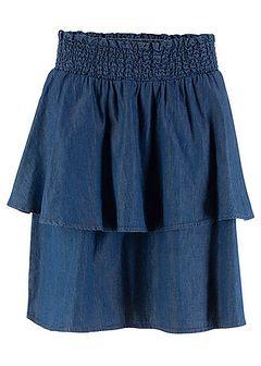 Spódnica dżinsowa z gumką w talii