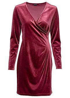 Sukienka aksamitna kopertowa