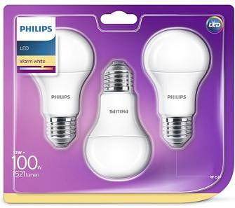 Philips LED 13 W (100 W) E27 3 szt.