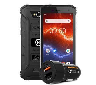 myPhone HAMMER Energy 2 (czarny) + ładowarka samochodowa