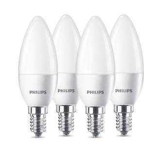 Philips LED Świeczka 5,5 W (40 W) E14 4 szt.